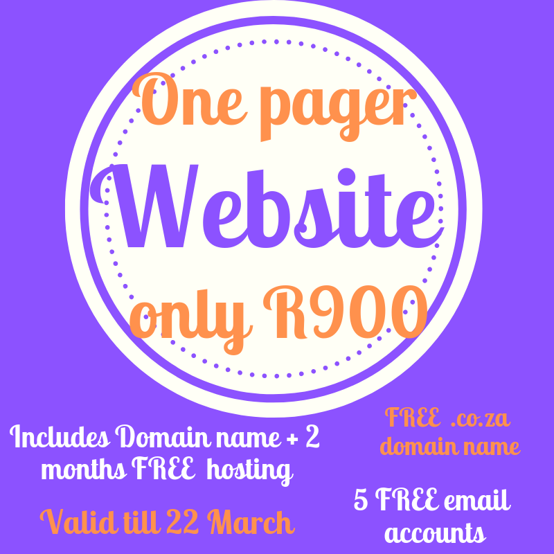 One pager offer